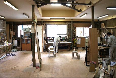 家具製作の風景